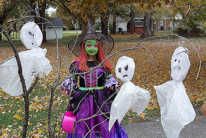 Camille Votaw submitted this photo of her daughter Madison-Rhea Mitchell dressed as a witch.