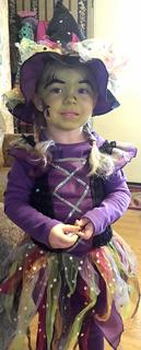 Layla Rose Followell, 3, dressed as a witch for Halloween.