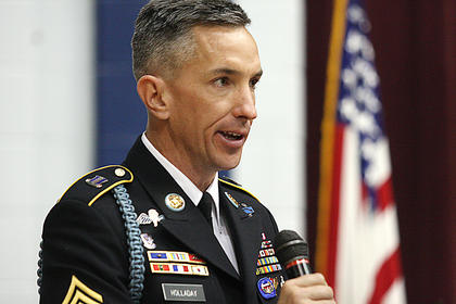 Battalion Command Sergeant Major Richard K. Holladay was the guest speaker during the program. He is a native of Charlotte, N.C. He has served in a variety of leadership positions in the Army.