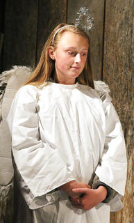 Abbey Ford is an angel in the Lebanon United Methodist Church's live nativity scene.