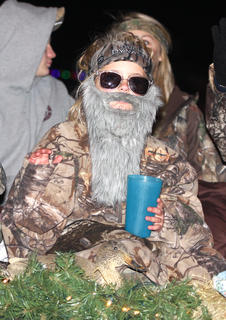 "The popular ""Duck Dynasty"" TV show inspired this float."