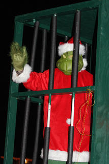 The mean ol' Grinch made an appearance during the parade.