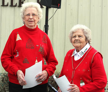 Louise Gribbins and Prudie Hollon were given the mayor's award during the Christmas in the Country festivities.