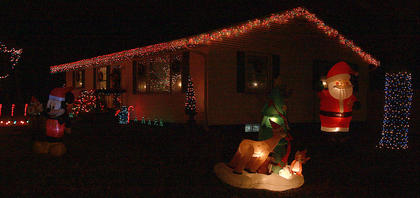 Lincoln and Shane Richardson won the award for the best decorated house in Bradfordsville.