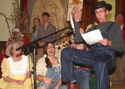 Larry Thomas performs during the Stringbean&#039;s Letter From Home skit.