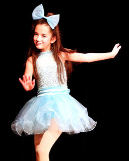 """A variety of talent was on stage Friday evening at Centre Square during a Christmas variety show and production of """"Holiday Celebrities."""" Picture is Amira Bowman performing a tap routine."""