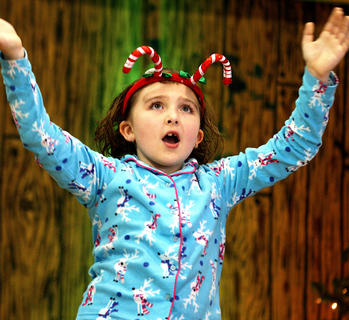 Sarah Shively sings her heart out during the Christmas program.