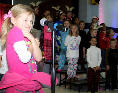 """Lakin Abell recites a portion of """"'Twas The Night Before Christmas."""""""