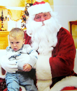Pictured is two-year-old Andy Cox, the son of Stuart and Kristen Cox.
