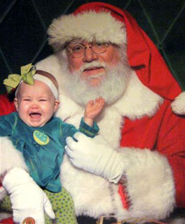 What a difference a couple of years can make! Emery Lyons wasn't very happy with Santa the first time she saw him. This year, she was ready to tell him her wish list. Emery is the daughter of Nicole (Blandford) and Chris Lyons. Her grandmother, Kathy Blandford, submitted this photo.