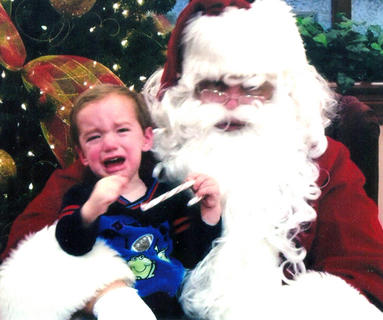 John Lucas Richerson was not the least bit thrilled about meeting Santa. He is the son of Shawna and Ronnie Richerson.