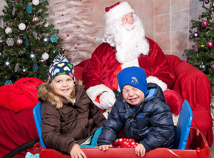 """I think this picture says it all..."" Tara Tatum said regarding this photo of her children, Chloe and Blake, with Santa."