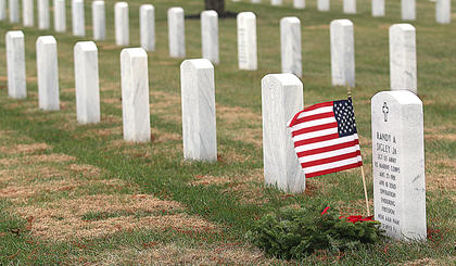 On Saturday, Dec. 17, the annual Wreaths Across America Day ceremony was held at the Lebanon National Cemetery.