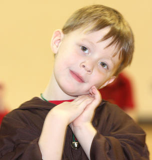St. Augustine Grade School held a special Christmas program Friday morning. Pictured is Alex Smith.
