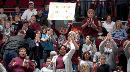 Marion County fans turned out for each of the Lady Knights games at the state tournament.