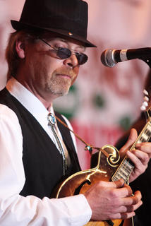Mark Lanham plays the mandolin with Dix River Crossing Friday evening.