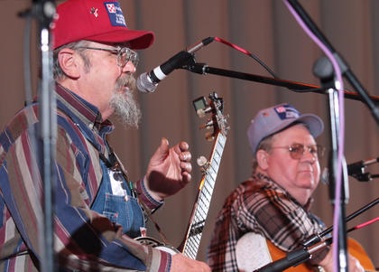 The Moron Brothers - Lardo and Burley - brought their blend of bluegrass and comedy to the stage Saturday night.