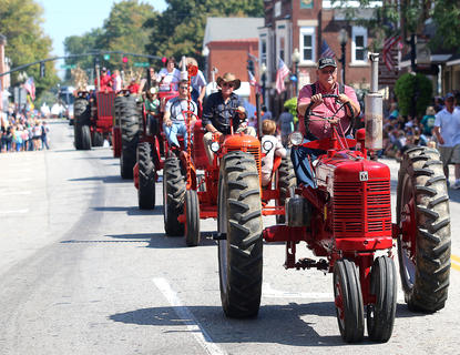 For tractor enthusiasts, the Pigasus Parade had plenty of them to view as they made their way down Main Street.