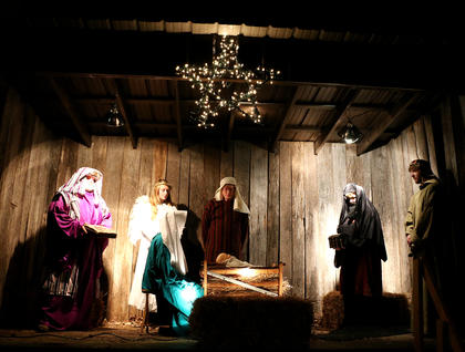 A live nativity scene was on display in front of the Lebanon Methodist Church in Lebanon Friday evening.