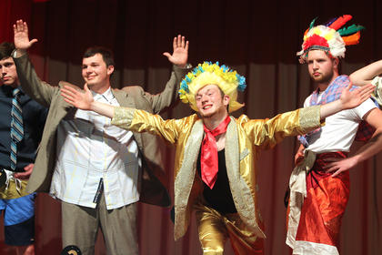 Pictured, from left, are Noah Leake, Michael Richardson, Nick Kaminski and Connor Higdon striking a pose.