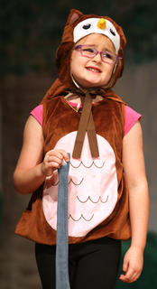 Pictured is the Owl played by Ella Gottee.