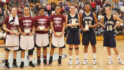 Bre Elder, Makayla Epps, Logan Powell, and Kyvin Goodin-Rogers were awarded as members of the all-region team