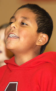 David Castillo sings with the St. Augustine chorus.
