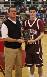 John Southall was awarded as the best player in the boys 20th district tournament