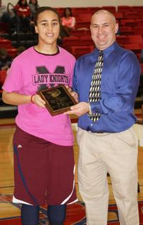 Makayla Epps was named the most outstanding player of the 20th district tournament.