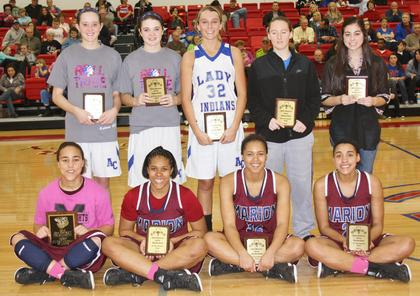 Alexus Calhoun, Kyvin Goodin-Rogers, Logan Powell, and Makayla Epps were named to the all-district tournament team.  Other members of the team were Heather Watson, Haley Wright, Mercedes Cox, Alex Keltner, and Katie Keltner.