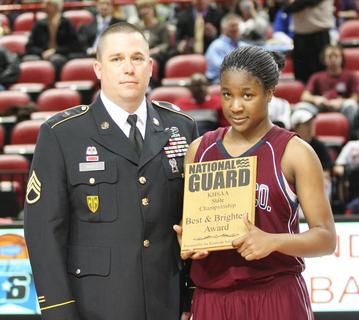Junior Patrice Tonge was named the National Guard Player of the Game.  Tonge scored 18 points with four assists, three rebounds, and three steals in the 67-30 win over Hopkinsville.