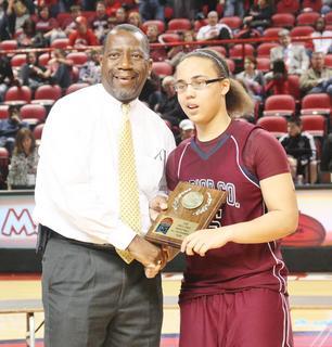 Junior Makayla Epps was named to the All-Tournament Team of the Sweet Sixteen Girls' State Basketball Tournament.