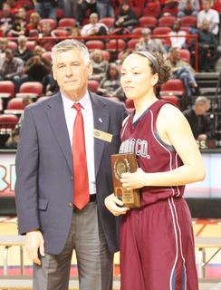 Senior Bre Elder was named to the Sweet Sixteen Girls' State Basketball Tournament All-Tournament Team following the championship game against Manual.