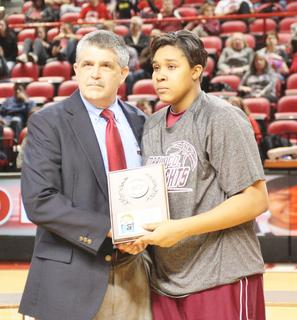 Junior Logan Powell was selected to the All-Tournament Team of the state tournament for her efforts.