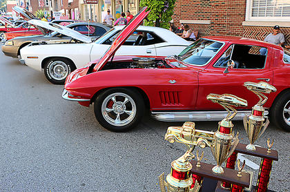 There were 175 cars and 10 motorcycles registered in the Erica Barnes State Farm Motorcycle/Car Show on Sunday.