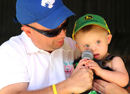 Axl Cole Jordan, 2, competes in the Junior Farmer competition. He is the son of Angela and Shelby Jordan.