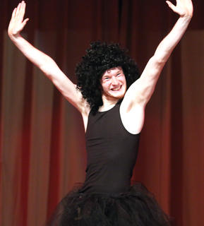 "Nick Kaminski, this year's Junior Mister winner, performs his rendition of ""Flash Dance"" during the talent portion of the competition."