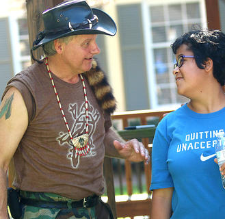 The Turtleman speaks with Zariah Hunfjord on Saturday at Ham Days.