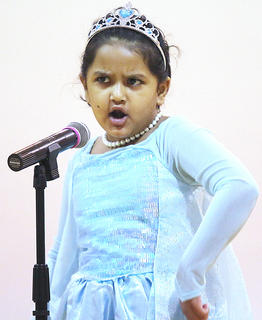 "Aadhya Vyas sings ""Let it Go"" from the movie ""Frozen."""