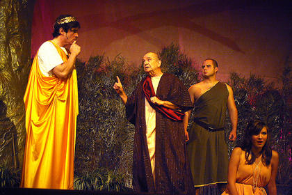 In the opening scene, Hermia refuses to follow her father Egeus's instructions to marry Demetrius, whom he has chosen for her. In response, Egeus quotes before Theseus an ancient Athenian law whereby a daughter must marry the suitor chosen by her father, or else face death. Theseus offers her another choice: lifelong chastity worshiping the goddess Diana as a nun.