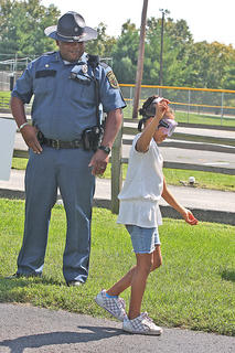"The Lebanon Police Department has children wear ""drunk goggles"" at Family Fitness and Safety Day to show them the potentially dangerous effects of alcohol,"