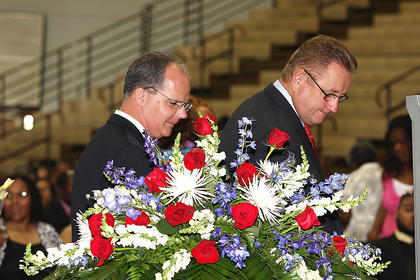 Congressman Brett Guthrie and State Sen. Jimmy Higdon were among the visitors who paid their last respects to Chief Bell.