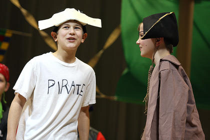 Aaron Howard tries to convince his fellow CES pirates that he has what it takes to be a real pirate.