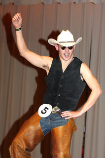 Cody Brahm shows off his cowboy dance moves during the talent competition. He won a self-expression award and was also named the first runner-up.