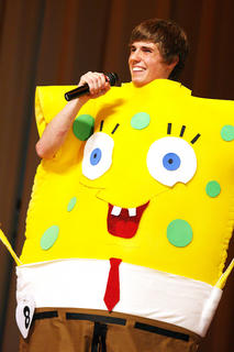 Scott Hunt performs an original Sponge Bob routine during the talent competition.