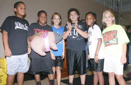 Before Slop the Hogs, Lebanon Elementary's team repeated (again) at the Pig Pen Relay champion.