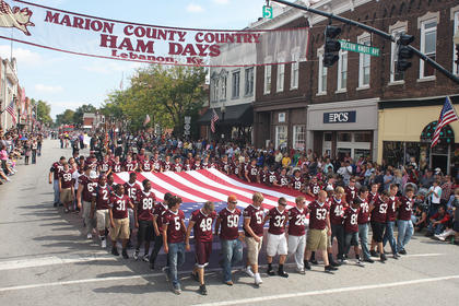 The 2011 Marion County Ham Days was held Sept. 24-25. During the Pigasus Parade, the Marion County High School football team carries the American flag. Check back during the week for more slideshows.