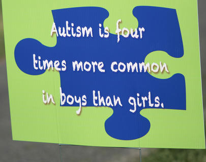 Hundreds of people gathered together Saturday at Graham Memorial Park to promote awareness of autism in the community. The purpose of the walk was to raise awareness about autism. Signs were posted throughout the park with facts about autism.