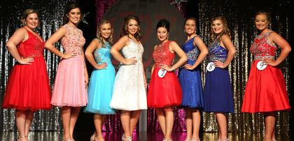 Pictured are the 'Backstreet' Girls. They are, from left, Laney Hall, Callie Gribbins, Kaylee Thomas, Isabella Glasscock, Madison Johnson, Olivia Edlin, Chloe May and Claire Higdon.
