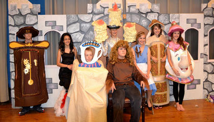 The cast of Beauty and the Beast Jr.
